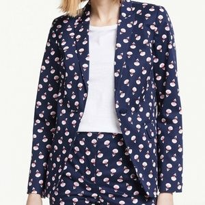 Boden NWT Size 10 Navy Blue & Pink Suit Jacket